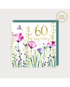 AGE 60 Card - Wildflowers