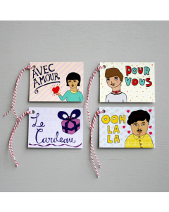French Gift Tags Pack