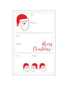 Christmas gift tags - Santa Sticker Labels (15 labels)