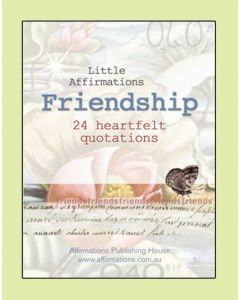 24 heartfelt quotations about friendship - Box set