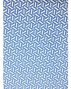 Blue Cube Folded Wrapping Paper