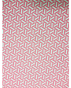 Pink Cube Folded Wrapping Paper