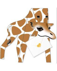 3D Greeting Card - Giraffe