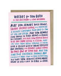 WEDDING card - 'Wishes for you Both'