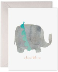 BABY card - Elephant, 'Welcome little one'