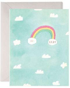 BABY card - 'Hi Baby' rainbow
