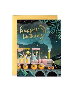 Birthday Card - Party Train