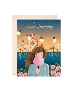 Birthday Card - Fairy Floss