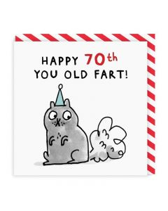 AGE 70 - 'You old fart'
