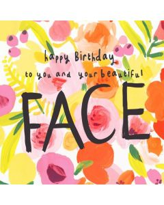 Birthday Card - Beautiful Face