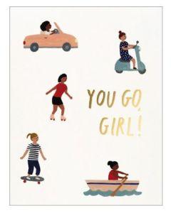 'You go girl' card
