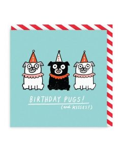 Birthday Card - Pugs and Kisses
