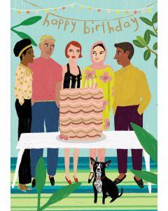 Birthday Card  - Cake Party