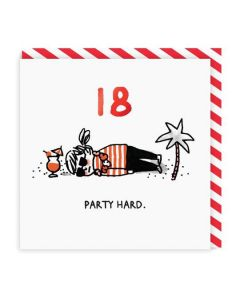 AGE 18 Card - Party Hard