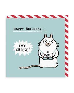 Birthday Card - Say Cheese