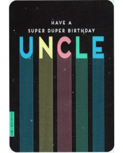 UNCLE Birthday Card - Super Duper