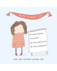 'Dad, you've done a great job' Girl Card