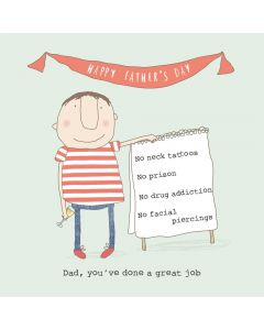 'Dad, you've done a great job' Boy Card