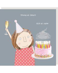 Birthday Card - Old At Cake