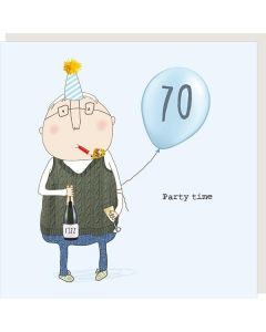 AGE 70 Card - Party Time