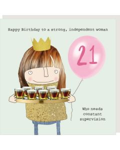 AGE 21 Card - Constant Supervision (Woman)
