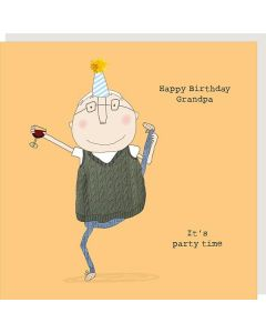 GRANDPA Birthday Card - Party Time