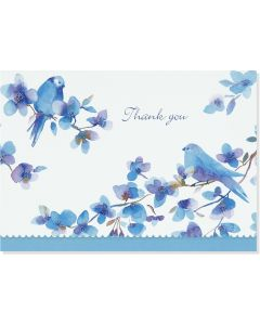 Boxed Thank You Cards - Bluebirds