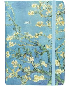 16-Month (Sept 2020-Dec 2021) Diary Planner - Almond Blossoms