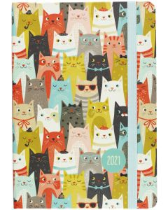 16-Month (Sept 2020-Dec 2021) Diary Planner - CATS