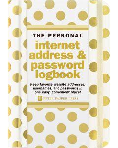 Internet Address & Password Book - Gold Dots