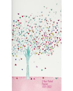2 Year Pocket Planner - Tree of Hearts
