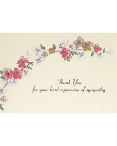 Sympathy Floral - Thank you notecard box