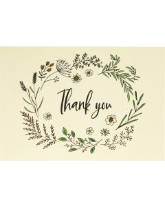 Native Botanicals - Thank you notecard box