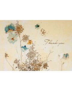 Boxed Thank You Cards - Watercolour Flowers