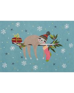 Festive Sloth - Boxed cards