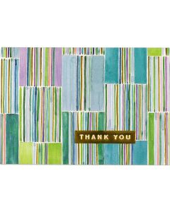 Hampton Stripes -  Thank you boxed notecards