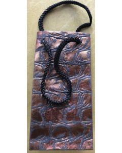 Gift bag - Copper/Black textured pattern
