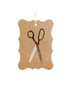 Scissors Gift Tag