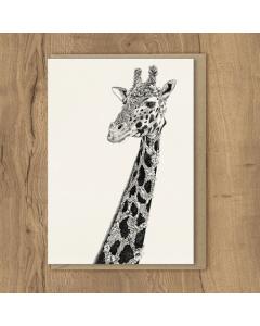 West African Giraffe Card
