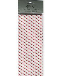 Red Heart tissue paper packet