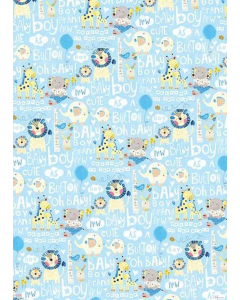 Baby Boy Folded Wrapping Paper