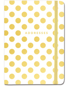Address Book - Gold Dots