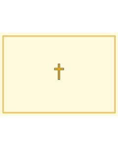 Gold Cross Notecard Box