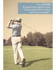 'For a Golfer...' Card