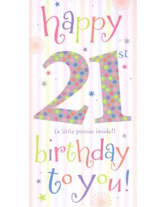 21st Birthday Money/Gift Voucher Wallet