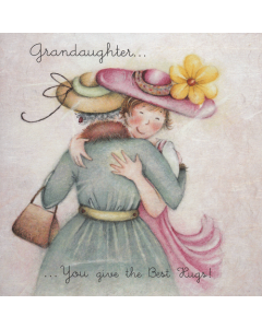 'Grandaughter... You Give the Best Hugs!' Card