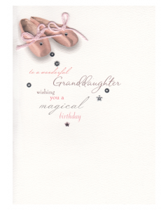 'Granddaughter, Wishing You a Magical Birthday' Card