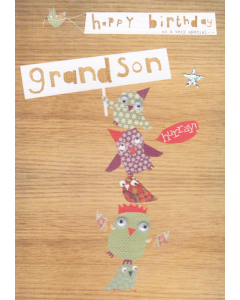 'Happy Birthday to a Very Special Grandson' Card