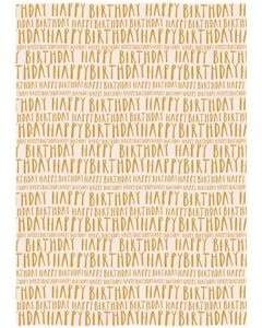 Folded Wrapping Paper - Golden Birthday