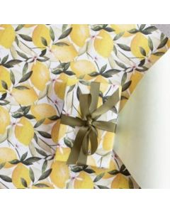 Folded Wrapping Paper - Lemons